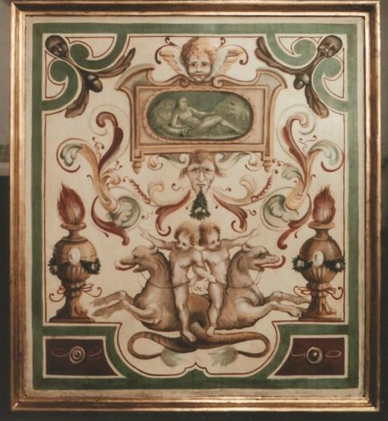 copia di un lacunario di palazzo del Duca a Senigalia