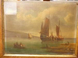 Il dipinto si presenta con una vernice finale molto ossidata
