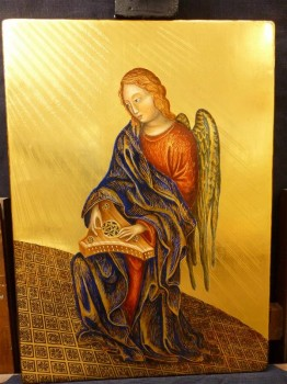l'angelo musicante finito-the musical angel finished